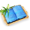 bambusová osuška 100x150 cm modrá