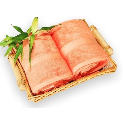 bambusová osuška 100x150 cm lososová