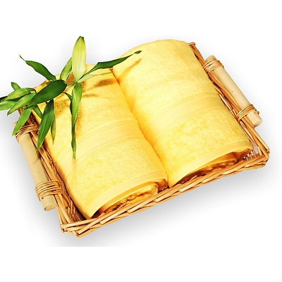 bambusová osuška 100x150 cm žlutá
