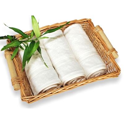 bambusový ručník 50x100 cm krémový