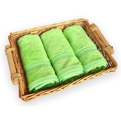 bambusový ručník 50x100 cm světle zelený