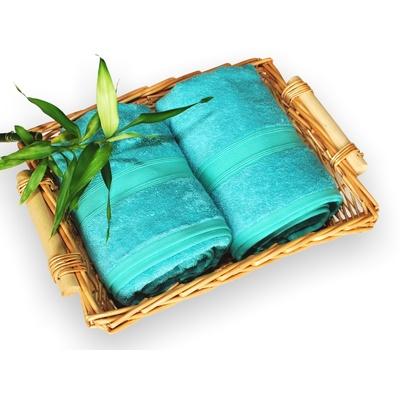bambusová osuška 70x140 cm tyrkysová