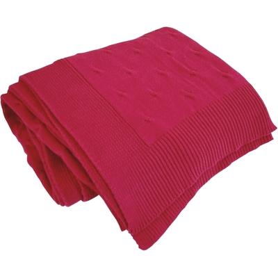 Pletená deka IMPERIO 150x200 cm bordó