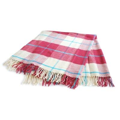 Vlněná deka ROMA 130x170 cm bordó