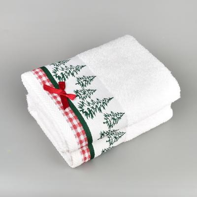 Vánoční ručník bílý
