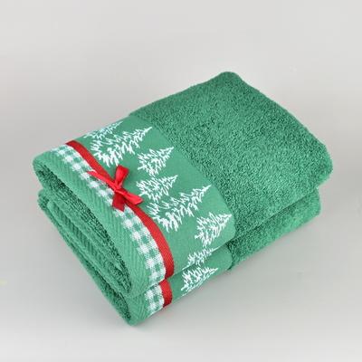 Vánoční ručník zelený