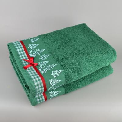Vánoční osuška zelená